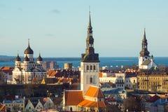 Tallinn, Estonia old city landscape Stock Image