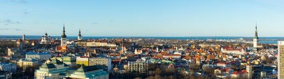 Tallinn, Estonia old city landscape Royalty Free Stock Photography