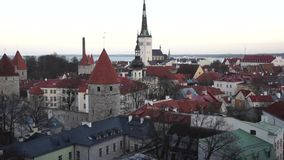 Tallinn, Estonia old city stock footage