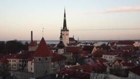 Tallinn, Estonia old city stock video footage