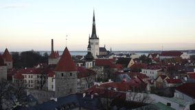 Tallinn, Estonia old city stock video