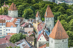 Tallinn, Estonia at the old city. Royalty Free Stock Photography