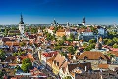 Tallinn, Estonia. Old city view stock photos