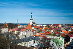 Tallinn, Estonia old city view Royalty Free Stock Images