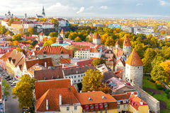 Tallinn. Estonia. Old city. Tallinn, Estonia. View of the old city, streets and rooftops from above Royalty Free Stock Photo