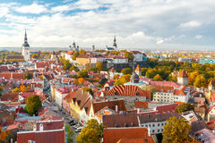 Tallinn. Estonia. Old city. Tallinn, Estonia. View of the old city, streets and rooftops from above Stock Photos