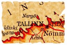Tallinn, Estonia old map Royalty Free Stock Photo