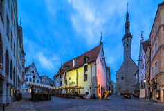 Tallinn, Estonia - The Old Town at the Break of Dawn Royalty Free Stock Photography