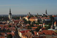 Tallinn Estonia old town panorama Stock Image