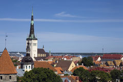 Tallinn, Estonia, old town view Royalty Free Stock Photo