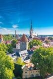 Tallinn in Estonia, panorama fotografie stock