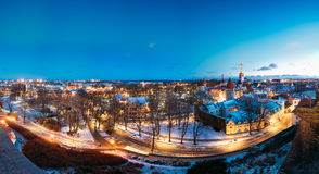 Tallinn, Estonia. Panorama Of Traditional Medieval Houses, Old N Stock Images