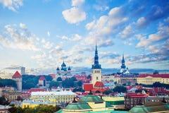 Tallinn estonia Pejzażu miejskiego linia horyzontu stary miasteczko turystyczny miasto Tallinn obraz royalty free