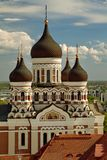 TALLINN, ESTONIA - Prawosławna Aleksander Nevsky katedra Obrazy Royalty Free