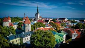 Tallinn, Estonia. Rooftop view of Tallinn in Estonia Stock Photos