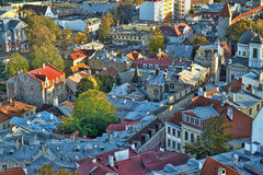 Tallinn Estonia Rooftops Royalty Free Stock Photo