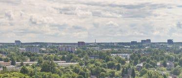 TALLINN, ESTONIA 21 07 2017 Scenicznych lat panoram miasto T Obraz Stock