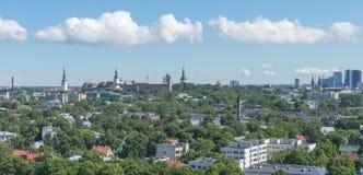 TALLINN, ESTONIA 21 07 2017 Scenicznych lat panoram miasto T Zdjęcie Royalty Free
