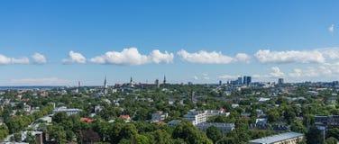 TALLINN, ESTONIA 21 07 2017 Scenicznych lat panoram miasto T Obrazy Royalty Free