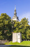 TALLINN, ESTONIA - SEPTEMBER 09, 2016: Writer Eduard Vilde monum stock photos