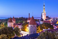 Tallinn Estonia Skyline Royalty Free Stock Photography