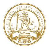 Tallinn, Estonia stamp Royalty Free Stock Photos