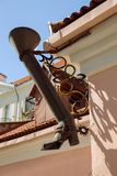 TALLINN, ESTONIA - Symbol of Long Boot street Pikk Jalg stock photo