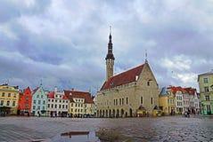 Tallinn. Estonia. Town Hall Square Stock Image
