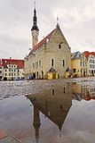 Tallinn. Estonia. Town Hall Square Royalty Free Stock Images