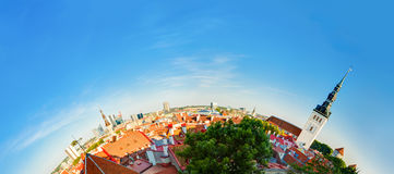 Tallinn, Estonia. Traditional Ancient Architecture Of Old Town Cityscape In Historic District. Stock Photos