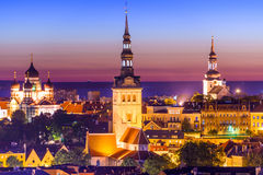 Tallinn Estonia Twilight Stock Photo