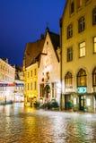 Tallinn, Estonia. Vanaturu Street In Historical Centre Of Old Town Royalty Free Stock Photo