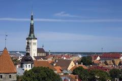 Tallinn, Estonia, vieja opinión de la ciudad foto de archivo libre de regalías