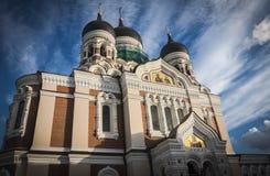 Tallinn Estonia. View of Alexander Nevsky Cathedral in Tallin, Estonia stock image