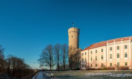 Free Tallinn, Estonia. View Of Upper Town Castle Corner Tower Tall Hermann Or Pikk Hermann In Sunny Winter Day. Panorama Stock Images - 166847854