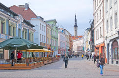 Tallinn. Estonia. Viru Street Stock Photo