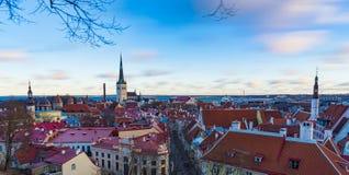 TALLINN, ESTONIE - 24 12 2017 : Vue de la ville Tallinn, Estonie Photos libres de droits