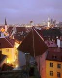 Tallinn evening skyline Stock Photo
