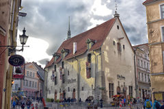 Tallinn famous restaurant Olde Hansa Stock Photography