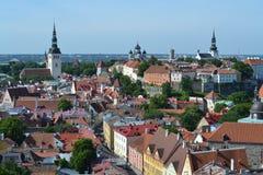 Tallinn från över Royaltyfria Bilder