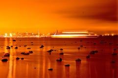 Tallinn in goud Stock Fotografie