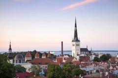 Tallinn - Hauptstadt von Estland stockbild