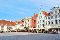 Tallinn, Het Vierkant van het Stadhuis stock foto