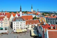 Tallinn, Het Vierkant van het Stadhuis stock fotografie