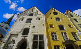 Tallinn houses no.1. Three old trade houses in the Estonian  capital Tallinn Royalty Free Stock Photo