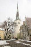 Tallinn im Winter Stockfotografie