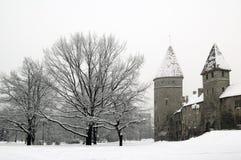Tallinn im Winter Stockfoto