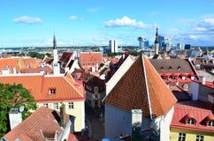 Tallinn kapita? Estonia od ptaka oka widoku fotografia royalty free