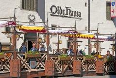 tallinn l'Estonie Café d'air ouvert Image stock