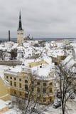 Tallinn, l'hiver   Photo libre de droits